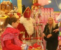 Saint-Nicolas sur le Shopping Hognoul (1er décembre 2012)