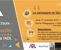 Quatrième Rencontre Gourmande: La Campagne se fait gastronomique, 17 novembre 2016
