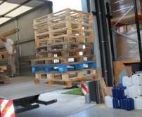 Première récolte de palettes en bois valorisable dans les entreprises awansoises (31 mai 2017)