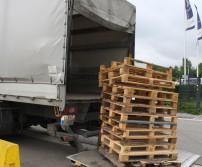 Deuxième récolte de palettes en bois valorisable dans les entreprises awansoises (28 juin 2017)