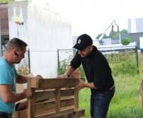 Troisième récolte de palettes en bois valorisable dans les entreprises awansoises (30 août 2017)
